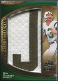 2009 Upper Deck Icons Immortal Lettermen #ILDM Don Maynard/131/(Letters spell out JETS/ Total print run 524) /