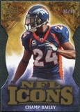 2009 Upper Deck Icons NFL Icons Die Cut #ICCB Champ Bailey /40