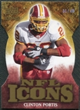 2009 Upper Deck Icons NFL Icons Die Cut #ICCP Clinton Portis /40