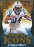 2009 Upper Deck Icons NFL Icons Die Cut #ICDI DeAngelo Williams /40