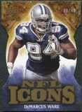 2009 Upper Deck Icons NFL Icons Die Cut #ICDW DeMarcus Ware /40