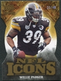 2009 Upper Deck Icons NFL Icons Die Cut #ICWP Willie Parker /40