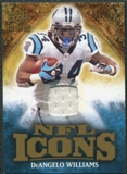 2009 Upper Deck Icons NFL Icons Jerseys #ICDI DeAngelo Williams /299