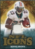 2009 Upper Deck Icons NFL Icons Jerseys #ICRR Ronnie Brown /299