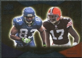 2009 Upper Deck Icons NFL Reflections Silver #RFBE Braylon Edwards Deion Branch /450