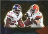 2009 Upper Deck Icons NFL Reflections Silver #RFJL Brandon Jacobs Jamal Lewis /450
