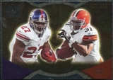 2009 Upper Deck Icons NFL Reflections Gold #RFJL Brandon Jacobs Jamal Lewis /199