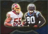 2009 Upper Deck Icons NFL Reflections Gold #RFTP Jason Taylor Julius Peppers /199