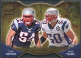 2009 Upper Deck Icons NFL Reflections Die Cut #RFBV Mike Vrabel Tedy Bruschi /40