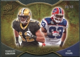 2009 Upper Deck Icons NFL Reflections Die Cut #RFCE Lee Evans Marques Colston /40