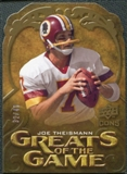 2009 Upper Deck Icons Greats of the Game Die Cut #GGJT Joe Theismann /40