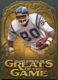 2009 Upper Deck Icons Greats of the Game Die Cut #GGKW Kellen Winslow Sr. /40