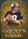 2009 Upper Deck Icons Greats of the Game Die Cut #GGTB Terry Bradshaw /40