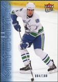2009/10 Fleer Ultra Ice Medallion #143 Willie Mitchell /100