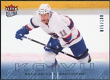 2009/10 Fleer Ultra Ice Medallion #178 Saku Koivu /100