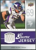 2009 Upper Deck Game Jersey #GJJA Jared Allen