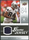 2009 Upper Deck Game Jersey #GJJW Javon Walker