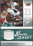 2009 Upper Deck Game Jersey #GJRB Ronnie Brown