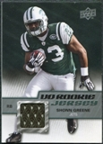 2009 Upper Deck Rookie Jersey #RJSG Shonn Greene