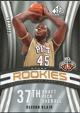 2009/10 Upper Deck SP Game Used #111 DeJuan Blair RC /399