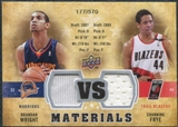 2009/10 Upper Deck VS Dual Materials #VSFW Brandan Wright Channing Frye /570