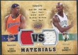 2009/10 Upper Deck VS Dual Materials #VSGW Chris Webber Kevin Garnett /570