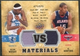 2009/10 Upper Deck VS Dual Materials #VSHW Al Horford Julian Wright /570
