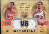 2009/10 Upper Deck VS Dual Materials #VSMM Brad Miller Sean May /570