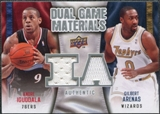 2009/10 Upper Deck Game Materials Dual DGAG Andre Iguodala Gilbert Arenas