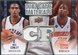 2009/10 Upper Deck Game Materials Dual #DGFC Mike Conley Raymond Felton