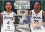 2009/10 Upper Deck Game Materials Dual #DGFJ Al Jefferson Randy Foye
