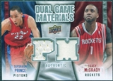 2009/10 Upper Deck Game Materials Dual #DGMP Tayshaun Prince Tracy McGrady