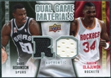 2009/10 Upper Deck Game Materials Dual #DGOR David Robinson Hakeem Olajuwon