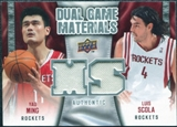 2009/10 Upper Deck Game Materials Dual #DGYS Luis Scola Yao Ming
