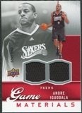 2009/10 Upper Deck Game Materials #GJAI Andre Iguodala /550