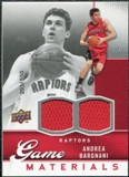 2009/10 Upper Deck Game Materials #GJBA Andrea Bargnani /550