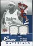 2009/10 Upper Deck Game Materials #GJBH Brendan Haywood /550