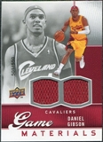 2009/10 Upper Deck Game Materials #GJDG Daniel Gibson /600