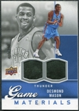 2009/10 Upper Deck Game Materials #GJDM Desmond Mason /550