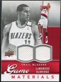 2009/10 Upper Deck Game Materials #GJLA LaMarcus Aldridge /550