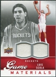 2009/10 Upper Deck Game Materials #GJLS Luis Scola /550