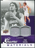 2009/10 Upper Deck Game Materials #GJPG Pau Gasol /400