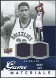 2009/10 Upper Deck Game Materials #GJRG Rudy Gay /545