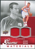 2009/10 Upper Deck Game Materials #GJSN Steve Novak /545