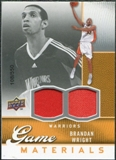 2009/10 Upper Deck Game Materials #GJWR Brandan Wright /550