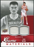 2009/10 Upper Deck Game Materials #GJYM Yao Ming /550
