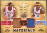 2009/10 Upper Deck VS Dual Materials Bronze #VSAA Carmelo Anthony Ron Artest /150