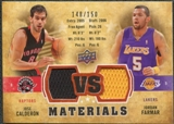 2009/10 Upper Deck VS Dual Materials Bronze #VSCF Jordan Farmar Jose Calderon /150