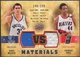 2009/10 Upper Deck VS Dual Materials Bronze #VSDF Channing Frye Darko Milicic /150