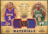2009/10 Upper Deck VS Dual Materials Bronze #VSJS Jordan Farmar Stephon Marbury /150